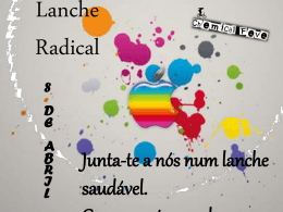 Lanche Radical – Cartaz