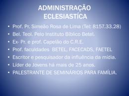 adm. eclesiatica - Faculdade