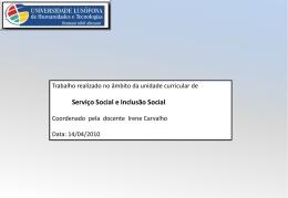 INCLUSÃO SOCIAL e cultural DOS IMIGRANTES
