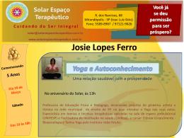 Josie Lopes Ferro Solar Espaço Terapêutico Você