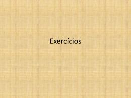 Estatistica – Exercícios