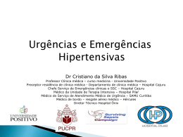 Urgências e Emergências Hipertensivas