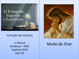 Modo de Orar Evangelho Segundo o Espiritismo