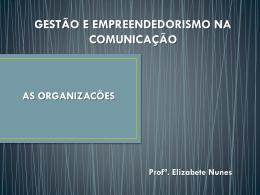 aula 01 – organizações - Profª. Elizabete Nunes