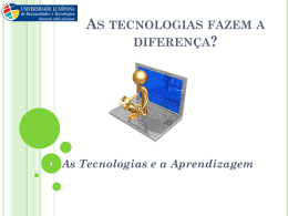 As Tecnologias - WordPress.com