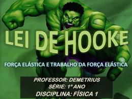 LEI DE HOOKE E TRABALHO DA FORÇA ELÁSTICA (Download)