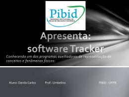 Apresentação: software Tracker