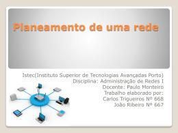 Planeamento de uma rede - AEISTECP