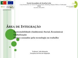 trabalho 1º modulo – Área de Integração