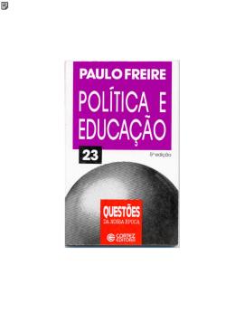 paulo freire politica e educacao