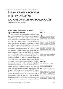 Islao Transnacional e os Fantasmas do Colonialismo Portugues