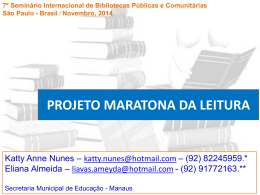 APRESENTACAO MARATONA DA LEITURA