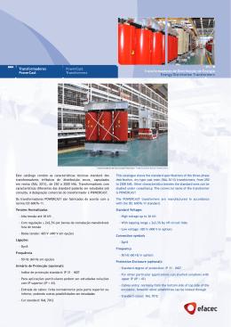 Catalogo Powercast - Mod. TR 12 B 1101 A1