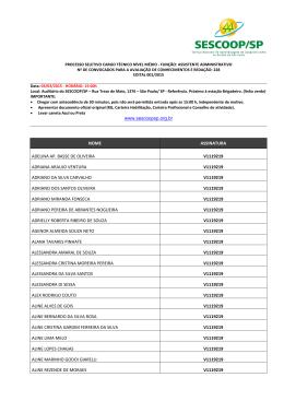 lista dos convocados para avaliação escrita e redação
