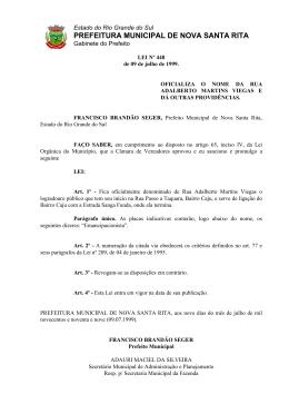 Lei 448 de 1999 - Rua Adalberto Martins Viegas
