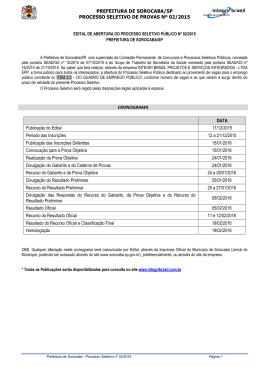 PREFEITURA DE SOROCABA/SP PROCESSO