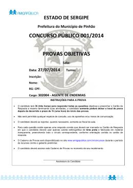 PR - 302004 - AGENTE DE ENDEMIAS