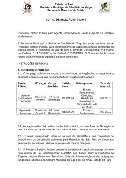 Estado do Pará Prefeitura Municipal de São Félix do Xingu