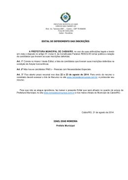 Page 1 PREFEITURA MUNICIPAL DE CABIXI CNPJ/22.855.159