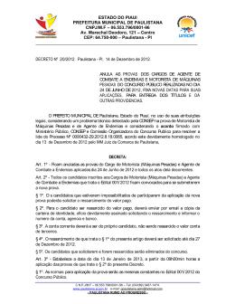 Juiz Homologa acordo para dar Prosseguimento ao Concurso