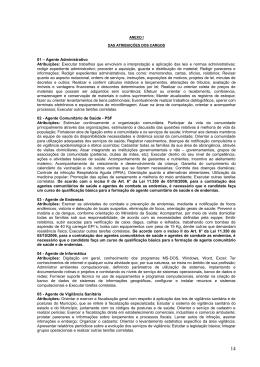 01 – Agente Administrativo Atribuições