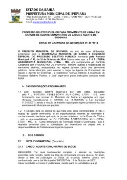 estado da bahia prefeitura municipal de ipupiara