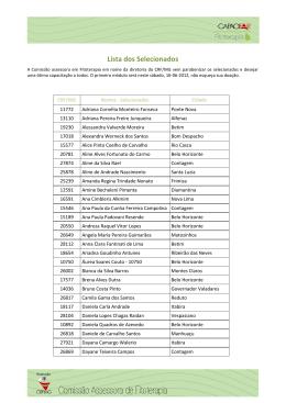 Lista dos Selecionados