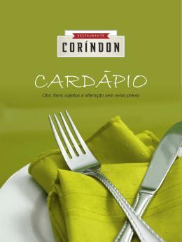 Baixar - Coríndon Restaurante
