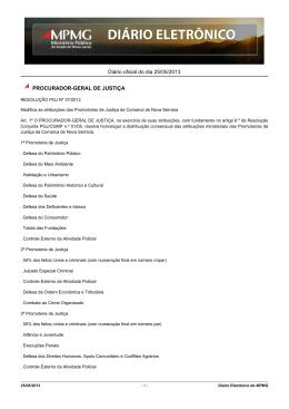 Diário oficial do dia 25/05/2013 PROCURADOR