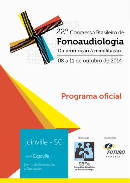 Programa Oficial - Sociedade Brasileira de Fonoaudiologia