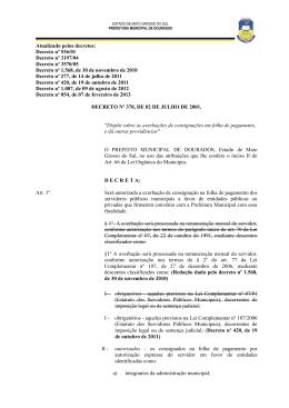 decreto nº 370, de 02 de julho de 2001