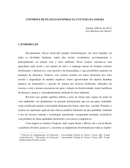 CONTROLE DE PLANTAS DANINHAS NA CULTURA DA GOIABA