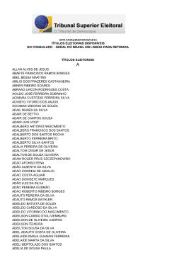 títulos eleitorais disponíveis no consulado‐geral do