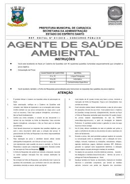 ED01 AGENTE DE SAUDE AMBIENTAL