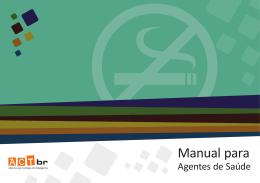 Manual para Agentes de Saúde - Aliança de Controle do Tabagismo