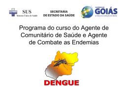 Aula de dengue para o curso do ACS e ACE 2011[1]
