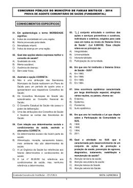 Prova de Língua Portuguesa: - cev