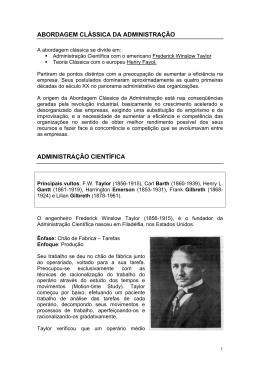 pdf abordagem clássica da administração administração científica