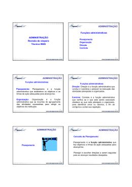 ADMINISTRAÇÃO Revisão de véspera Técnico