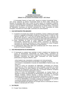 Edital Completo - UFC Virtual - Universidade Federal do Ceará