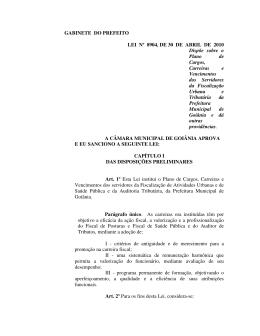 Lei 8904, de 30 abril de 2010