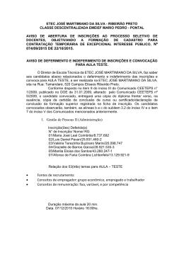 074/09/2015 DE 22/10/2015. 1. Gestão de Pessoas II (Administração)