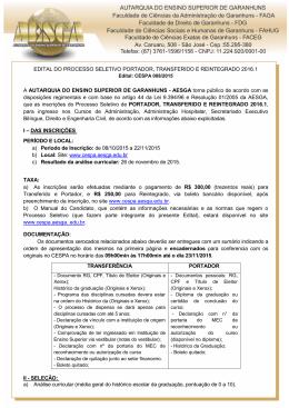 edital 008/2015- portador - transferência - reintegração