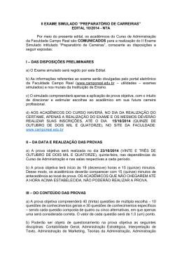 EDITAL 10/2014 - Faculdade Campo Real