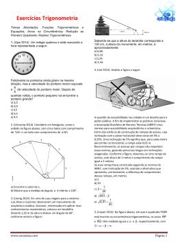 Exercícios Trigonometria