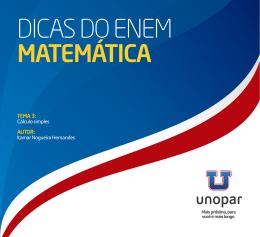 TEMA 3: Cálculo simples AUTOR: Itamar Nogueira Hernandes