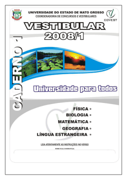 Caderno de provas do 1.º Dia (12/11/2007)