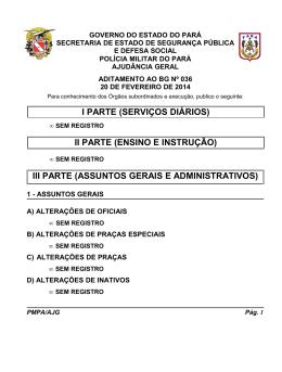 ADIT. BG 036 - De 20 FEV 2014 - Proxy da Polícia Militar do Pará!