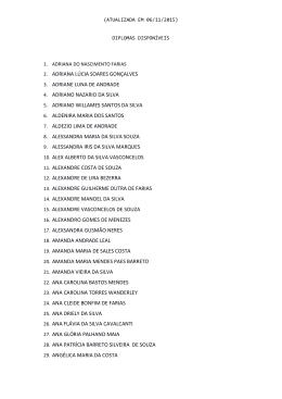 Lista de Diplomas disponiveis.