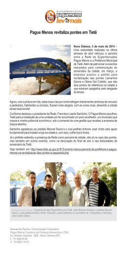Pague Menos revitaliza pontes em Tietê